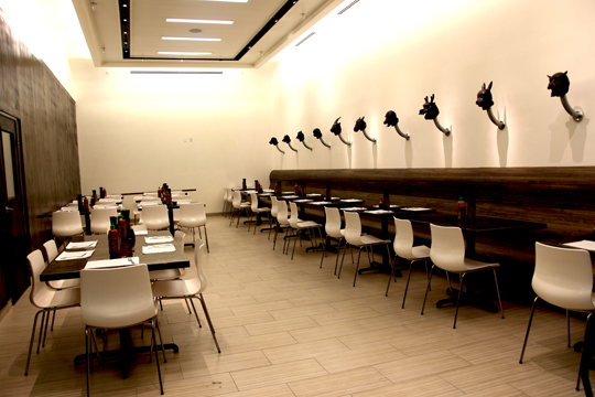 The dining room at Rice + Noodles. (Photo courtesy of the restaurant)