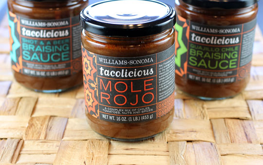 Three cooking sauces by Tacolicious.