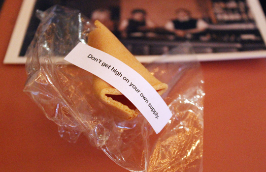 My fortune in a cookie.