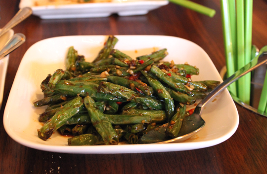 Charred green beans because we all need some veggies.