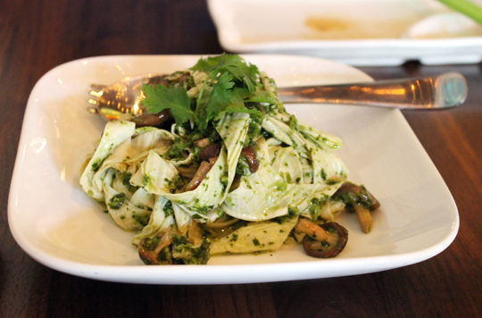 Yuba strands re-imagined in a Korean-meets-Italian salad.