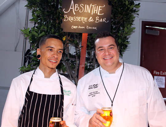 Chef Adam Keogh and his assistant of Absinthe Brasserie.