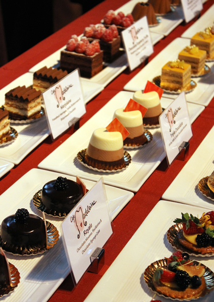 An array of sweets from Cafe Madeleine.