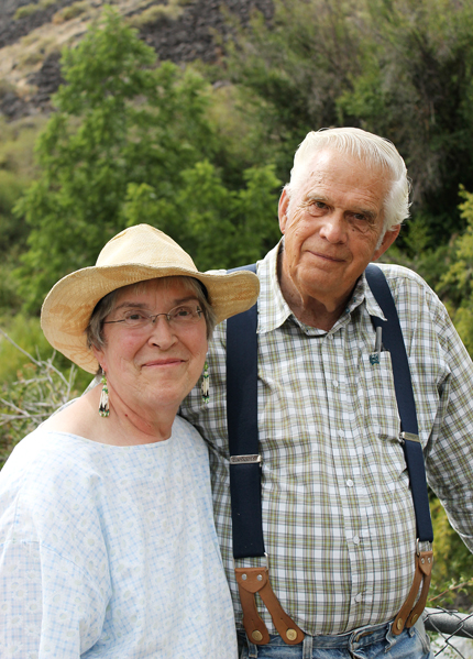 Calvin Lamborn and his wife, Bonnie, who had a sugar snap pea variety name for her.