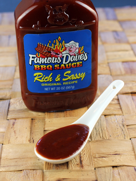 Famous Dave's Rich & Sassy sauce.