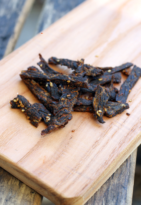 True Gentleman's Jerky in Sinsa Korean Flavored BBQ flavor.