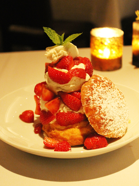 A huge strawberry shortcake.