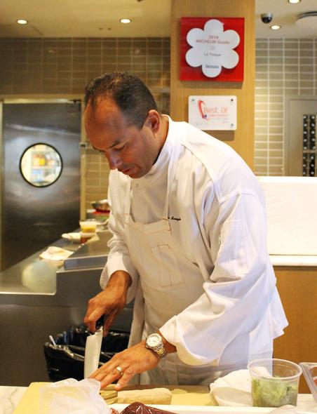 Scargle preparing his dish.