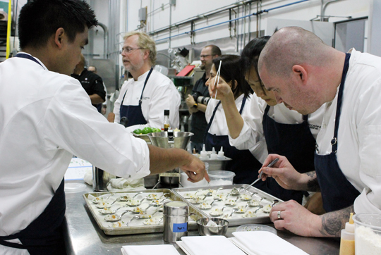 Plating in action.