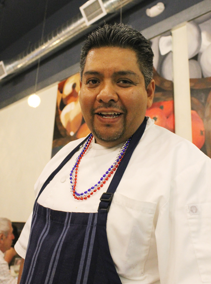 Chef Manuel Martinez adorned for the occasion.