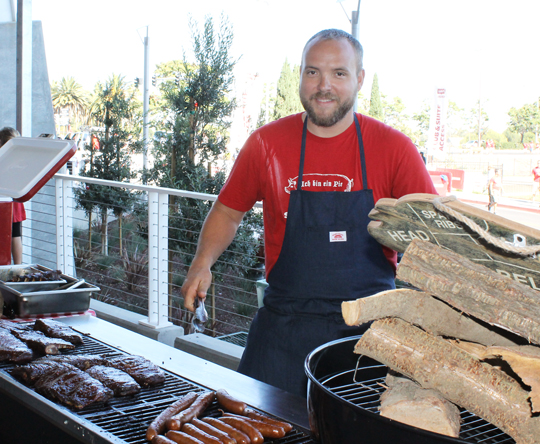 Chef Ryan Farr of 4505 Meats manning the grill.
