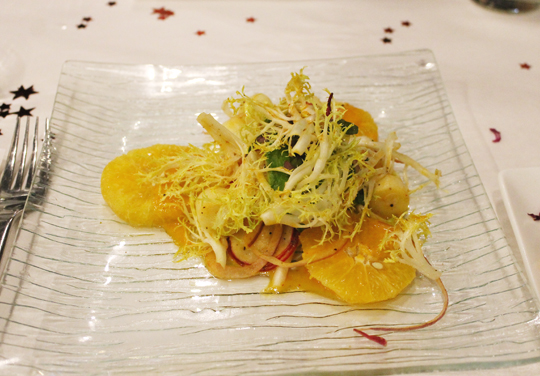 Hearts of palm salad.