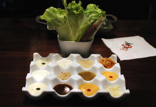 A novel way to eat your salad.