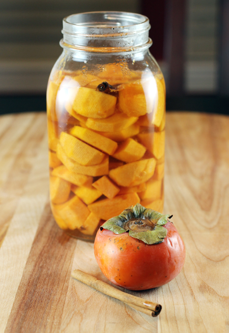 Just pickle it. Persimmons, that is.