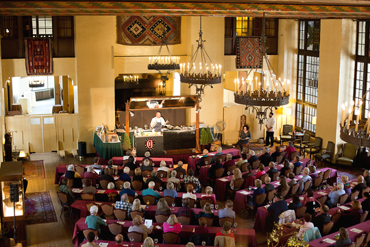 The Ahwahnee all decked out for Chefs Holidays. (Photo courtesy of the hotel)