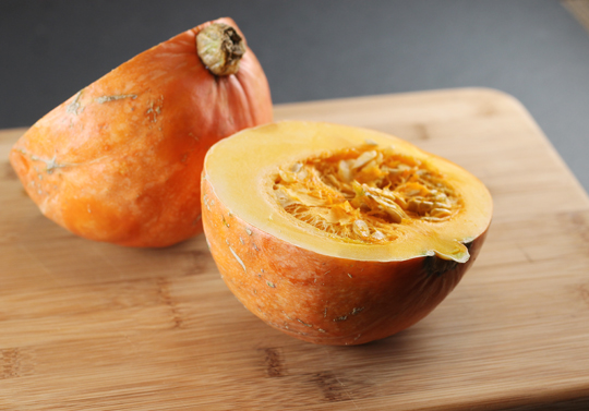 An orange kabocha squash.