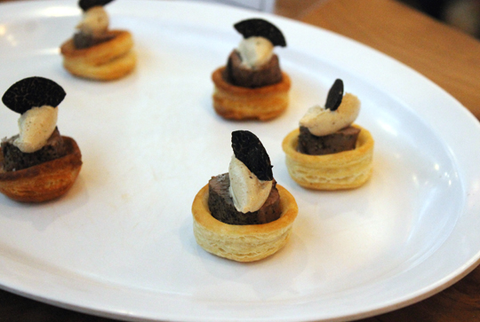 Five Dot Ranch featured mini beef Wellingtons with black truffle and wild mushroom mousse.