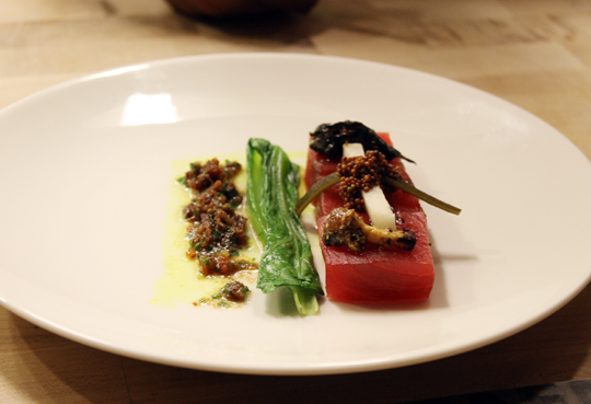 Ahi and anchovies -- sheer brilliance.