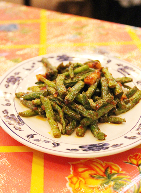 Blistered green beans at Hawker Fare in San Francisco.