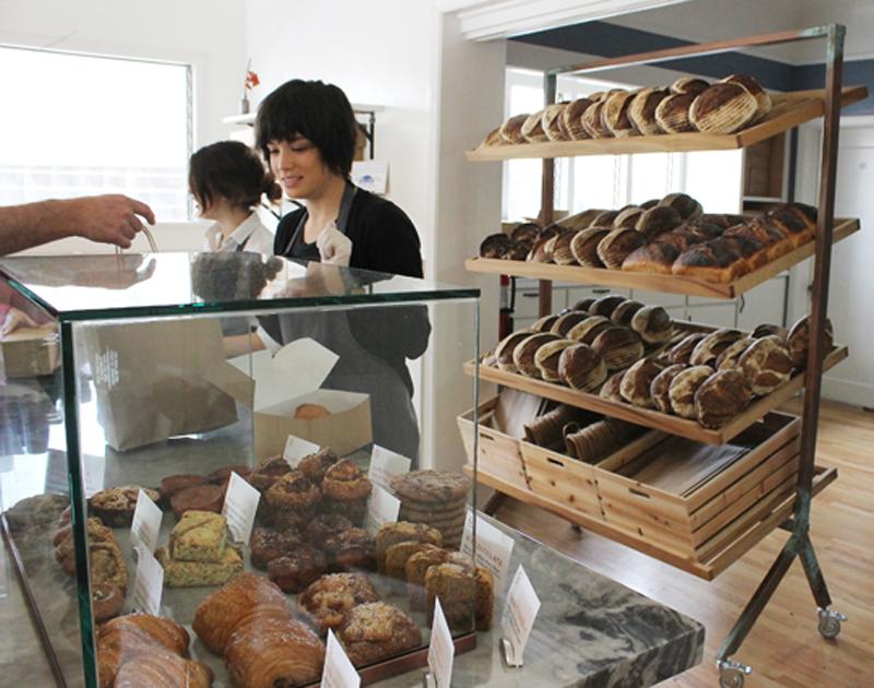 Inside the bakery.