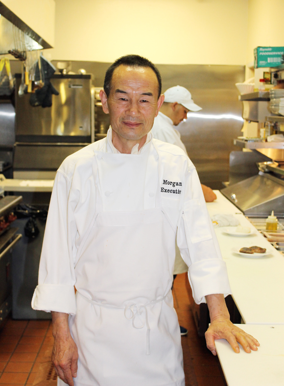 Chef Morgan Song in his kitchen at Ambience.