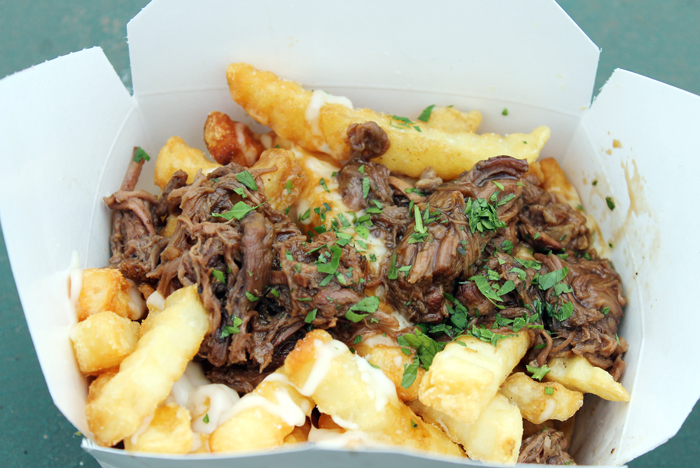 The truck's poutine topped with Maui Cattle Co. braised short ribs.