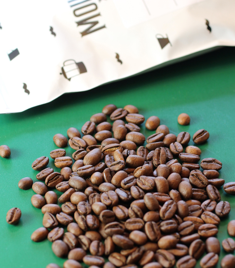Each bag tells you the origins of the beans and when they were roasted.