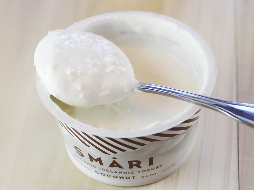 Push aside the Greek. Make way for Icelandic yogurt. This one is full of shreds of coconut.