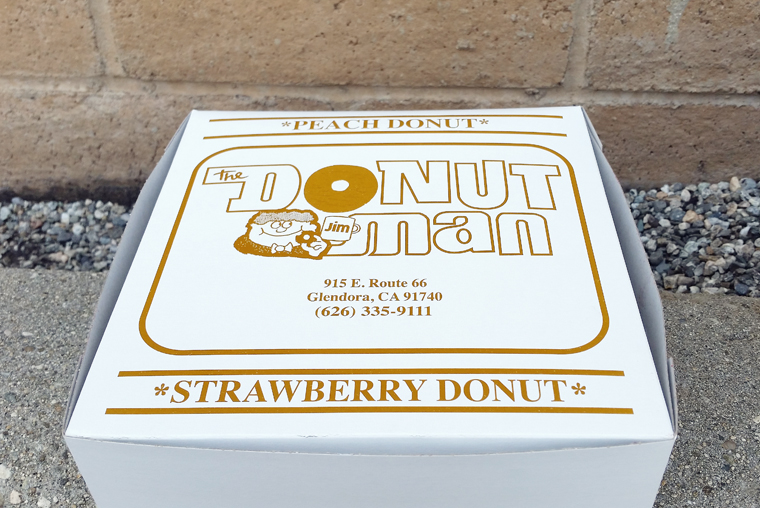 Of course, after making the drive, you've got to get more than one donut. You've got to get a box-load.