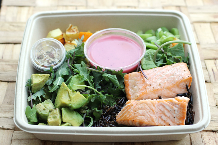 The salmon salad.