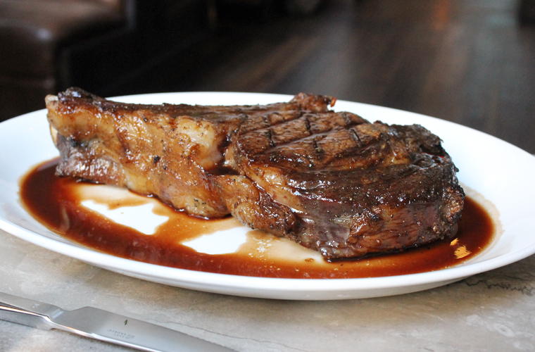 Again, I remind you this is the smaller sized beef chop. Yup.