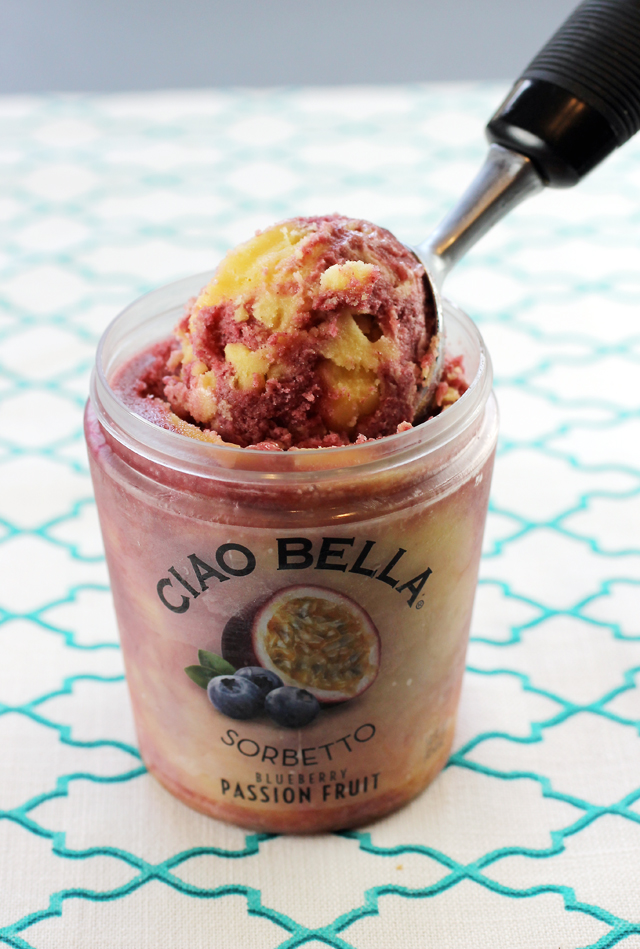 Blueberries and passion fruit combine for this summery flavor from New York's Ciao Bella.