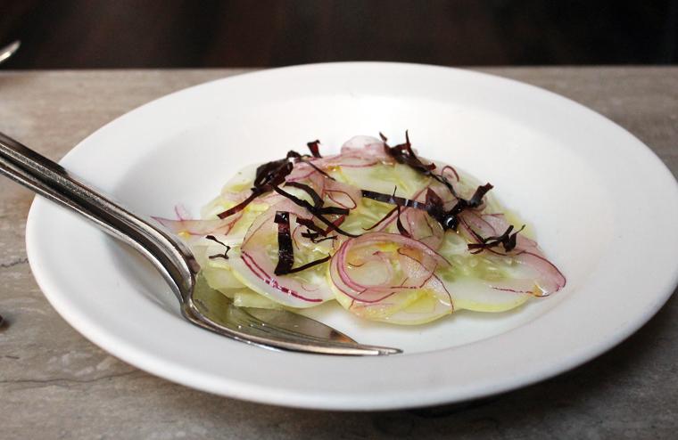 A refreshing melon-cucumber salad.