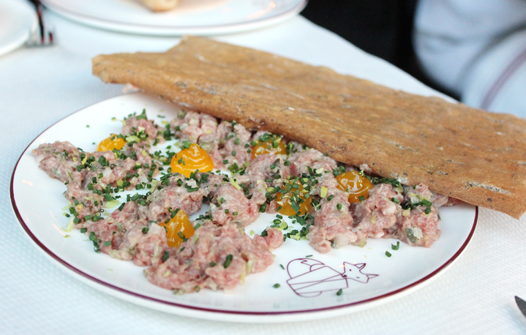 Steak tartare with those unique yolks.