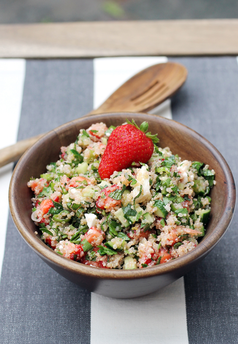 Tabbouleh -- with strawberries. And you will love it.