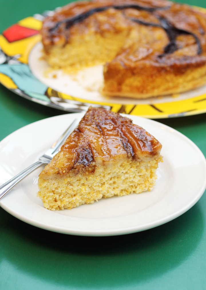 Going Bananas For Banana Polenta Upside Down Cake | Food Gal