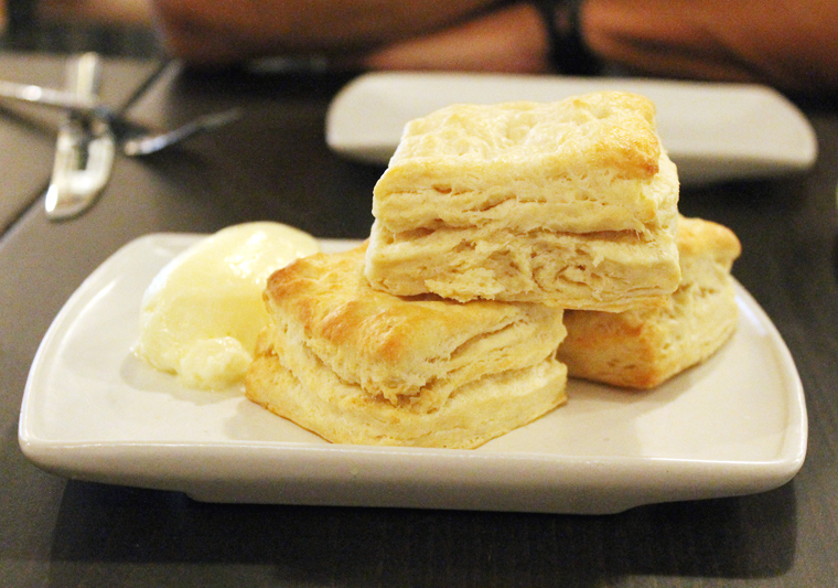A stack of biscuits.