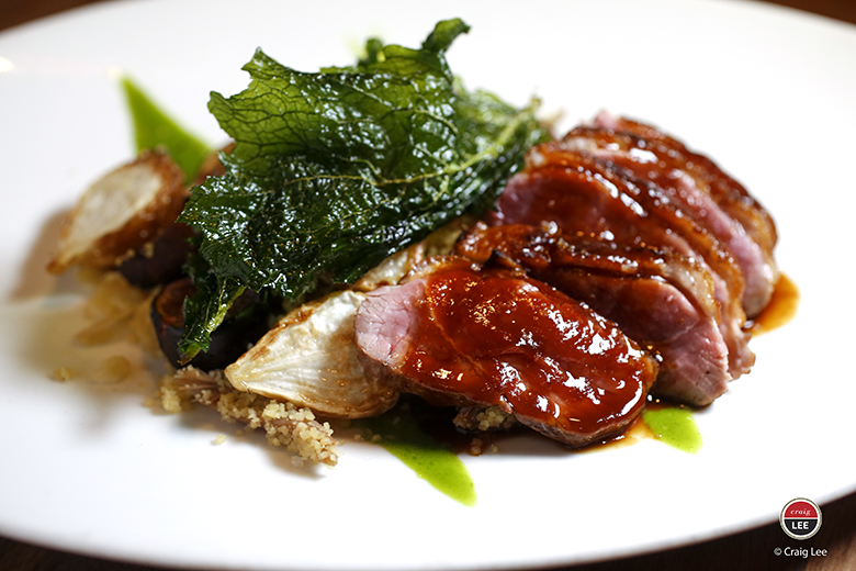 "A duck breast to make you go ""wow.'' (Photo by Craig Lee)"