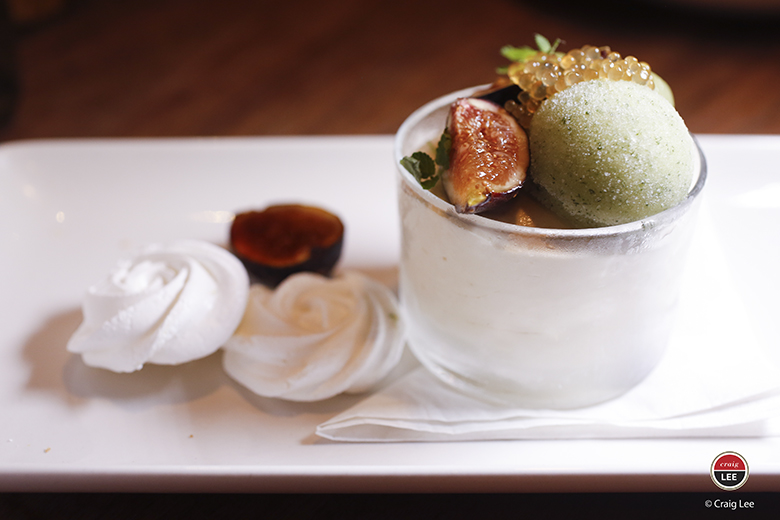"""Honey, I Bruleed the Fig'' is the wacky name for this elegant dessert. (Photo by Craig Lee)"