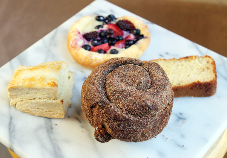 A sampler -- with that cinnamon-sugar brioche front and center.