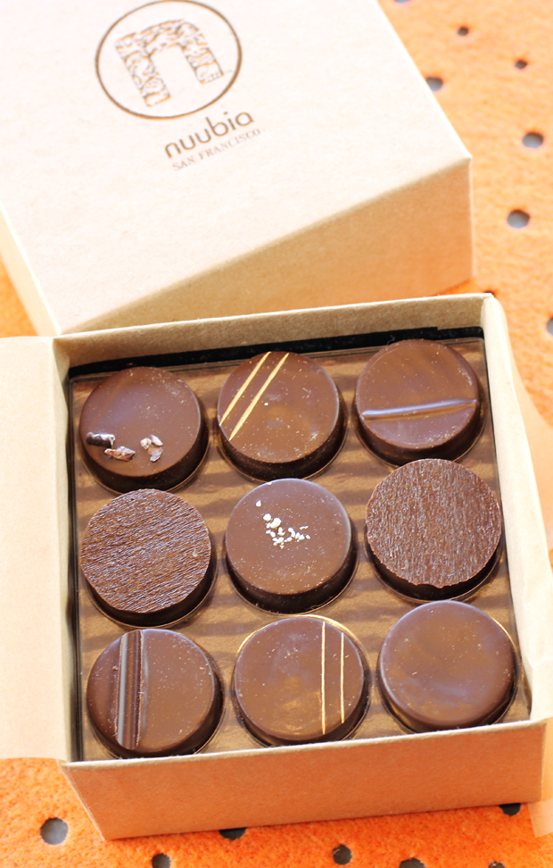 Nuubia's boxed chocolates.