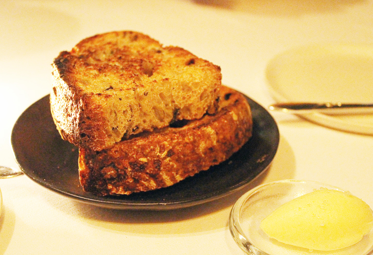 House-made sourdough with cultured butter.