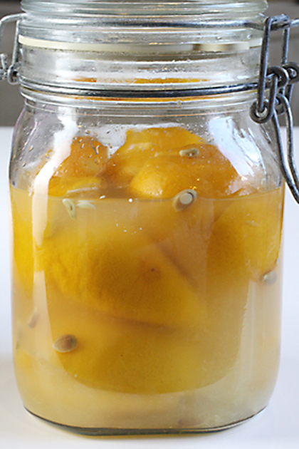 My new batch of preserved lemons in the making.