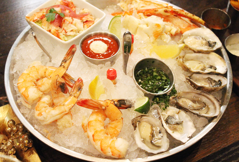 A bountiful shellfish platter.