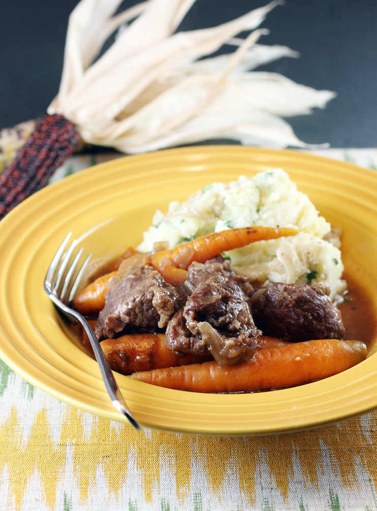 Freitag's favorite dishes growing up -- her father's beef stew.