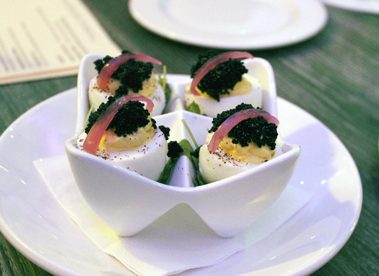 Fancy deviled eggs.