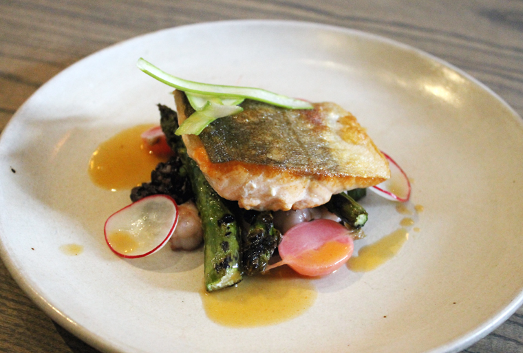 Spring on a plate with Arctic Char.