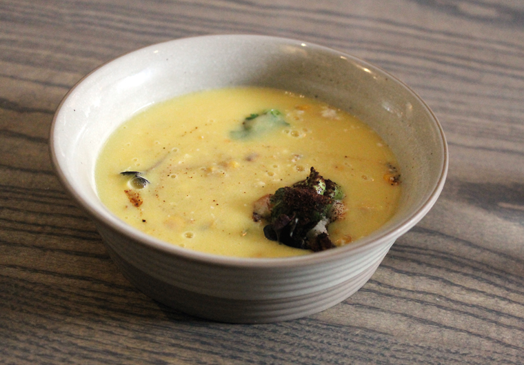 A corn soup to fall in love with.