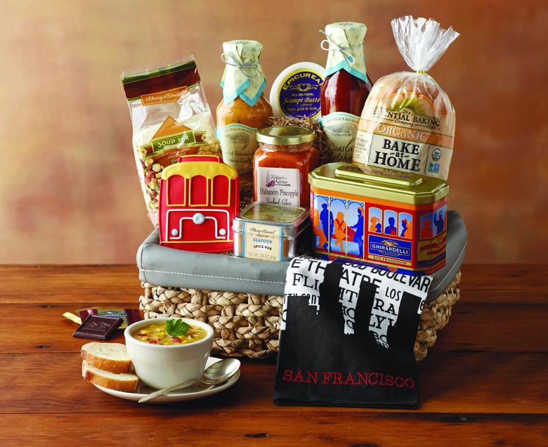 San Francisco-Inspired Gift Basket (photo courtesy of Harry & David)