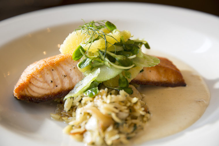 Salmon at La Pastaia. (Photo courtesy of La Pastaia, Hotel De Anza)